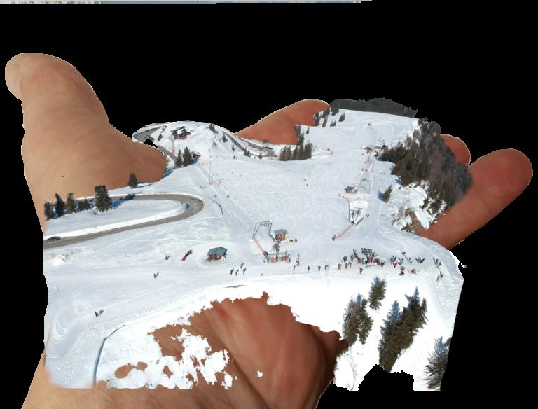 Drohnen fliegen im Skigebiet Rossfeld