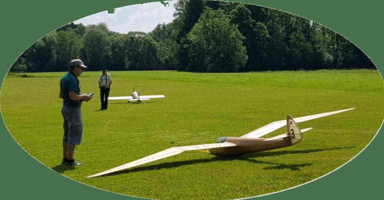 Minimoa auf dem Modellflugplatz Freilassing