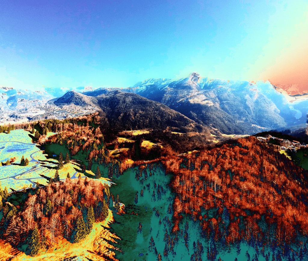 Drohnen fliegen in Berchtesgaden Panorama Berchtesgadener Alpen